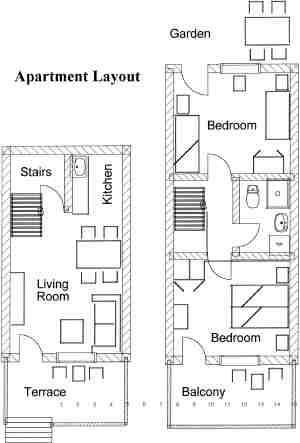 lay out af Apartment Tedo